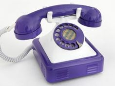 Hungarian Indigo and White Vintage Desk Phone