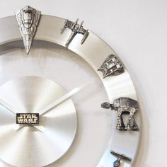 Hey, I found this really awesome Etsy listing at https://www.etsy.com/listing/176387580/star-wars-starships-and-fighters-clock
