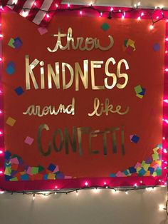 Throw kindness around like confetti: bulletin board ideas