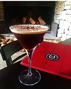 It's Friday!! And we have happy hour from 4-6!! Thanks @saraestenberg for sharing this pic of our dry orange espresso martini!!  #stablesrestaurant #stablesmatakana #espressomartini #happyhour #newmenu #beer #wine #cocktails #tgif #seeyousoon