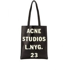 Acne Studios Rumor Metallic Leather Tote (2.335 RON) ❤ liked on Polyvore featuring bags, handbags, tote bags, accessories, black, fillers, metallic tote, leather purses, laptop tote bag and laptop tote