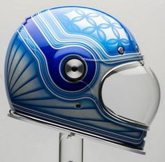 Bell Bullitt Helmet by Chemical Candy Customs Motorcycle Helmet Design, Racing Helmets, Motorcycle Style, Motorcycle Gear, Bike Helmets, Women Motorcycle, Bell Helmet, Helmet Head, Vader Helmet