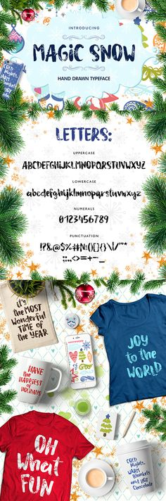 Magic Snow  Christmas Typefase — TrueType TTF #sweet #script • Download ➝ https://graphicriver.net/item/magic-snow-christmas-typefase/19159383?ref=pxcr