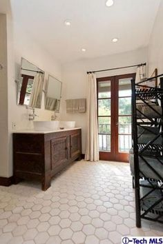 master bath tile... love the size of the tiles!!