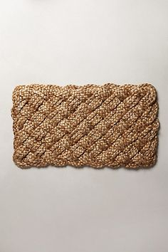 Wipe off those wet grassy feet please! Hand-Plaited Doormat #anthropologie #pintowin