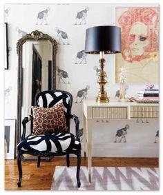 Style At Home Interior Feminine glam home feminineglam-flirty-style Decor, House Styles, House Design, Decor Inspiration, Interior Design, Home Goods Decor, Home Deco, Gorgeous Interiors, Trending Decor