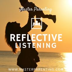 "Reflective listening is a way of providing a caring, nurturing environment for our children. If we want a child to be a caring human being who respects others, we need to respond to them in respectful, caring ways. Through reflective listening our children know we value their dignity. They ""feel felt,"" giving them a sense of well being that results in stress reduction."