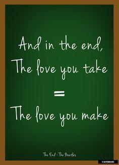 The Love you take = The Love you make