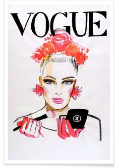 Vogue Cover als Premium Poster von Olesja Hännikäinen | JUNIQE