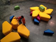 Modular furniture! Kaleidoscape Lecture at the Berkeley Art Museum | Rebar Art & Design Studio | San Francisco