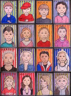 Illustratie van Kittie Stappers http://www.stylink.nl/etalages/Kittie-Stappers/  #stylink #colour #portraits #illustration