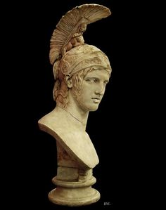 Head of Ares. Marble. After a Greek original by Alkamenes ca. 420 B.C. Inv. No. A 105. Saint-Petersburg, The State Hermitage Museum.