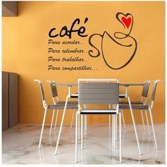 Adesivo Parede Café Xícara Cozinha