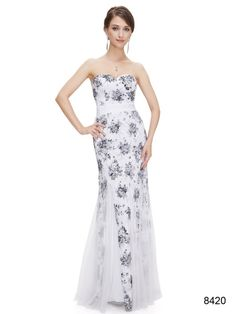 ホワイトカラーのゴージャス系ロングドレス - ロングドレス・パーティードレスはGN|演奏会や結婚式に大活躍!