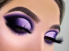 Purple Makeup Looks, Purple Eye Makeup, Glam Makeup Look, Make Makeup, Makeup Eye Looks, Goth Makeup, Purple Eyeshadow, Black Makeup, Pretty Makeup