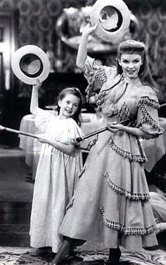 "Margaret O'Brien and Judy Garland in ""Meet Me in St. Louis"""