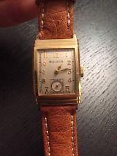 Bulova Uhr Vintage 14K Gold Selten!
