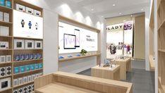 Huawei store design on Behance Showroom Design, Shop Interior Design, Interior Design And Technology, Mobile Shop Design, Retail Store Design, Design 24, Showcase Design, Office Interiors, Stores