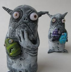 infestation  monster ooak art doll sculpture by mealymonster