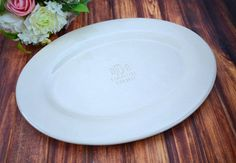 Monogrammed Wedding Signature Guestbook Oval Platter by Susabellas