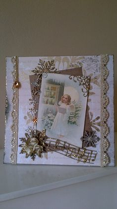 Christmas card using image from Pion Design, 'Wintertime in Swedish Lapland. Card handmade by Jilly W.