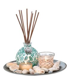 Look at this Pebble Reed Garden Fragrance Tray Set on #zulily today!