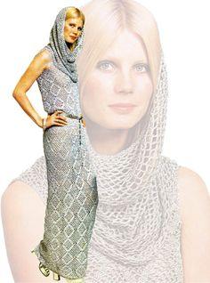 Vintage 70s Crochet Dress Pattern   MAXI Cowl por KinsieWoolShop, $3.20
