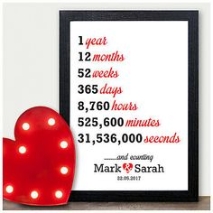 Details about Wedding Personalised Anniversary Gifts First Wedding Anniversary Presents Personal Anniversary Gift Ideas For Him Boyfriend, 1st Anniversary Cards, Wedding Anniversary Presents, Anniversary Gifts For Couples, Anniversary Gifts For Husband, Paper Anniversary Gift Ideas, 1 Year Anniversary Gift Ideas For Boyfriend, 1st Wedding Anniversary Gift For Him, Anniversary Photos