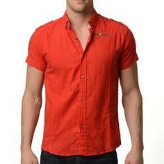 Linen Shirt Red