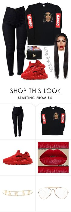 """""""Quavoo❤️"""" by taytay0258 ❤ liked on Polyvore featuring NIKE, Forever 21 and CÉLINE"""
