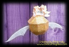 SVG Cutting Files, the golden snitch from Harry Potter. Harry Potter Wedding Rings, Harry Potter Decor, Paper Crafts, Diy Crafts, Cutting Files, Die Cutting, Print And Cut, Svg Cuts, Paper Dolls
