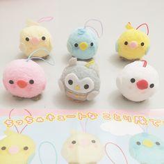 (4cm - set of 6) pom pom kotori tai little bird army strap keyring by amuse who produces alpacasso