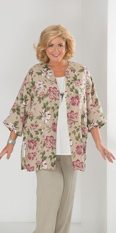 Kasbah natural linen flower jacket