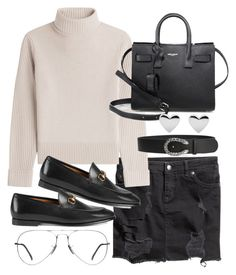 """""""Untitled #20531"""" by florencia95 ❤ liked on Polyvore featuring H&M, Vanessa Seward, Gucci, Yves Saint Laurent and Ray-Ban"""