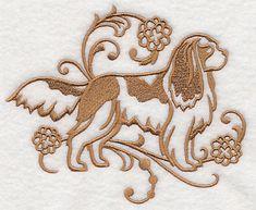 Graceful Cavalier King Charles Spaniel design (L6292) from www.Emblibrary.com