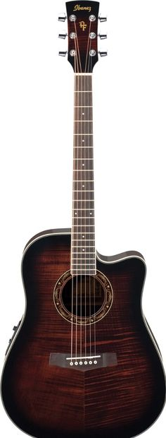 Ibanez dark wood guitar