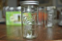 1-1/2 pint jars. These vintage jars are back in production and have lots of great uses.