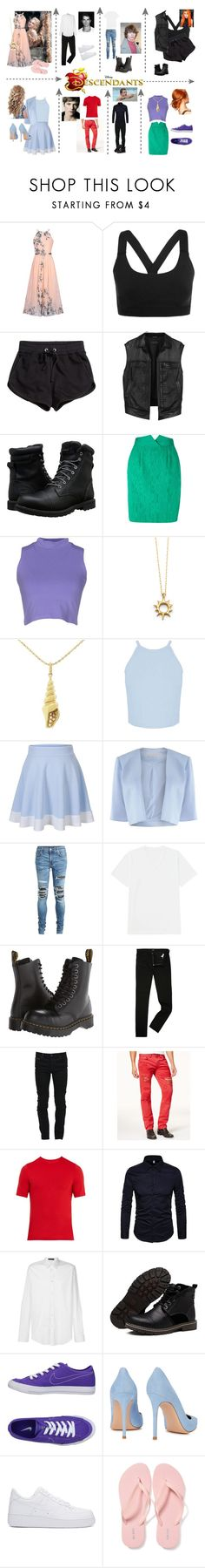 """""""Descendants"""" by tfryer ❤ liked on Polyvore featuring Disney, WithChic, Ivy Park, H&M, rag & bone, Timberland, Christian Dior, Silvian Heach, Sydney Evan and Miss Selfridge"""