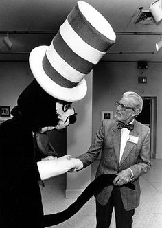 Dr. Seuss meets the cat in the hat.