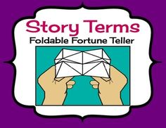 FREE DOWNLOAD! Parts Of A Story: Fun Review Activity (Folding A Paper Fortune Teller) Genre, Climax, Main Characters, Plot, Setting, Conflict, Resolution, Theme.