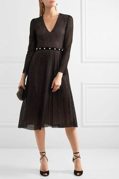 Philosophy di Lorenzo Serafini - Faux Pearl-embellished Cotton-blend Lace Dress - Black - IT48