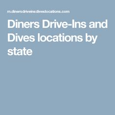 Diners Drive-Ins and Dives locations by state http://www.deepbluediving.org/best-dive-computers/