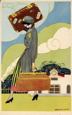 """La Tradotta"" Italian postcard. (The Wolfsonian-Florida International University) #travel"
