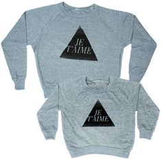 """Is+there+anything+cuter+than+matching+Mommy+++kid?+Say+""""I+love+you""""+to+each+other+with+these+matching+Je+T'aime+Pullovers.+    This+listing+is+for+a+women's+pullover+AND+a+kids+pullover.+    Please+select+women's+size+and+leave+in+message+to+seller+what+kid+size+you'd+like+(2T,4,T+or+6T)"""