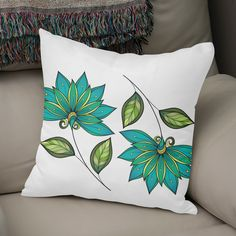 Best Ideas for Life Pillow Crafts, Diy Pillows, Throw Pillows, Applique Pillows, Fabric Painting On Clothes, Painted Clothes, Hand Painted Dress, Hand Painted Fabric, Cushion Cover Designs