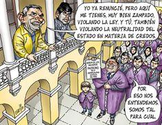 Ximena Esperanza Hau Villar Escogí esta caricatura por que da un muy buen ejemplo sobre la iglesia y al mismo tiempo sobre la corrupción