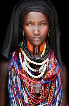 Woman from the Omo Delta in Ethiopia