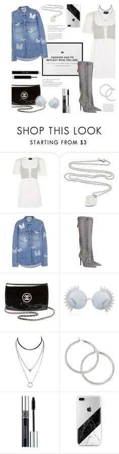 """""""Moonshine"""" by lisalockhart ❤ liked on Polyvore featuring Topshop, Tiffany & Co., Valentino, Zimmermann, Chanel, Linda Farrow and Christian Dior"""