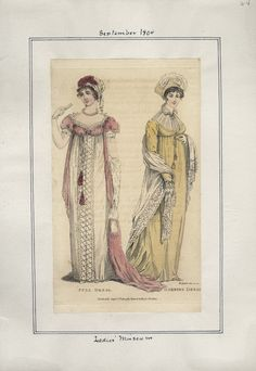 Casey Fashion Plates Detail | Los Angeles Public Library Ladies' Museum Date:  Saturday, September 1, 1804