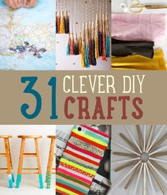 31 Clever DIY Crafts | Save On Crafts With Easy DIY Project Ideas http://diyready.com/save-on-easy-diy-crafts/